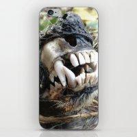 animal skull iPhone & iPod Skins featuring Animal Skull by CJ Thornburg