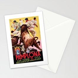 1954 SPAIN Pamplona San Fermin Festival Poster Stationery Cards
