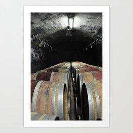 botti di vino Art Print