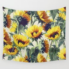 Sunflowers Forever Wall Tapestry