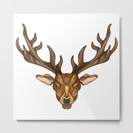 Deer Park- MI_Brown Metal Print