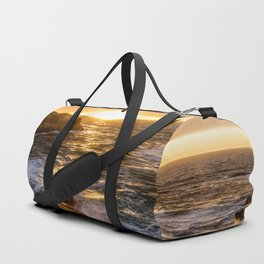 In Waves - Waves Crashing Into Rocks at Sunset In Big Sur Duffle Bag