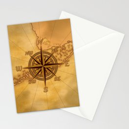 Antique Style Compass Rose Stationery Cards