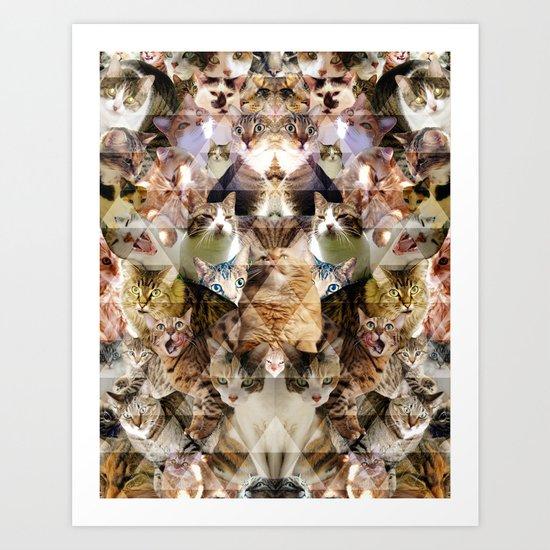 Cat Kaleidoscope Art Print