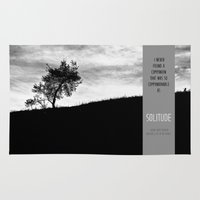 religious Area & Throw Rugs featuring Henry David Thoreau - Solitude by Schwebewesen • Romina Lutz