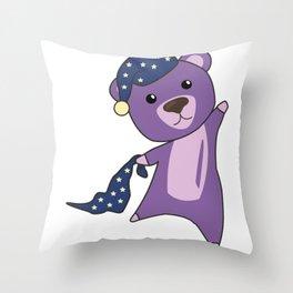 Teddy Bear Turquoise Sleepyhead Teddy Bear Throw Pillow