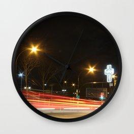 Great Northern Way East Van cross traffic blur Wall Clock