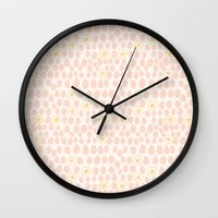 eggs Wall Clocks featuring Eggs by Catherine Gibbard