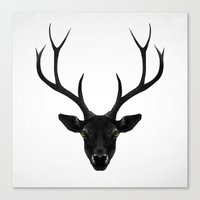 rare Canvas Prints featuring The Black Deer by Ruben Ireland