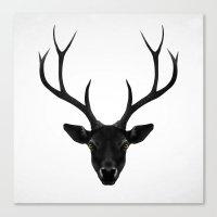 ruben Canvas Prints featuring The Black Deer by Ruben Ireland