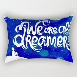 Ocean Blue Dreams Stars Inspirational Quote Rectangular Pillow