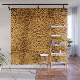 Brown Beige Leopard Animal Print Wall Mural