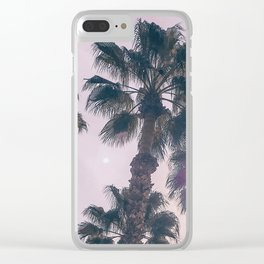 Palm Tree Art Print {2 of 3} | Magenta Pastels Topical Beach Plant Nature Vacation Sun Vibes Artwork Clear iPhone Case