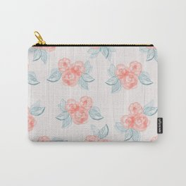 Country Rose Bouquets Watercolour Pattern Carry-All Pouch