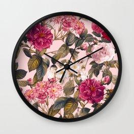 Rose Garden V Wall Clock