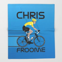 Chris Froome Yellow Jersey Throw Blanket