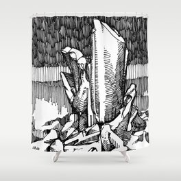 intent in the 1st degree Shower Curtain