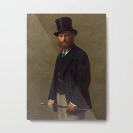 "Henri Fantin-Latour ""Édouard Manet"" Metal Print"
