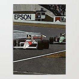 Ayrton Senna Formula 1 Battle Poster
