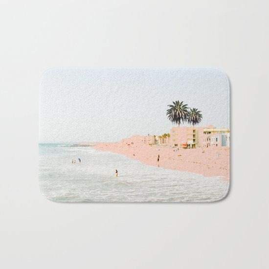 Pink Beach #society6 #decor #buyart Bath Mat