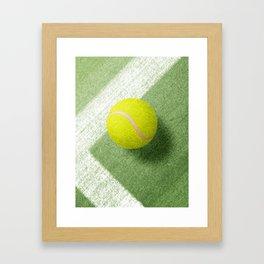 BALLS / Tennis (Grass Court) Framed Art Print
