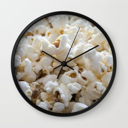 Popcorn Close Up Wall Clock