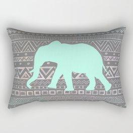Mint Elephant  Rectangular Pillow