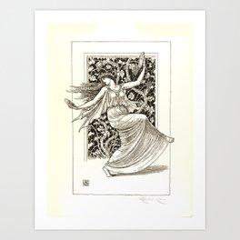 "Gustave Moreau ""Dancing Nymph (Nymphe Danseuse)"" Art Print"