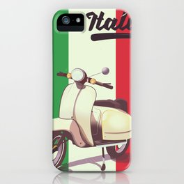 Italia Scooter vintage poster iPhone Case