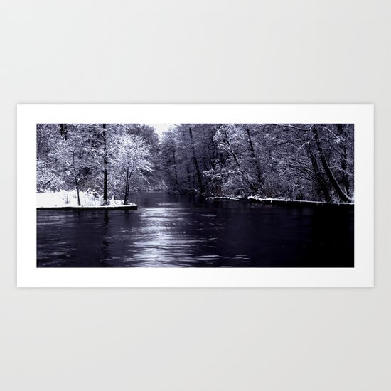 Winter end Art Print