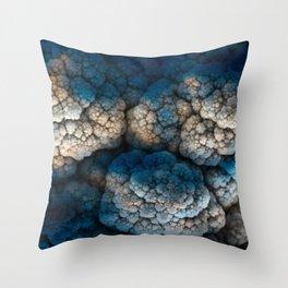 Celestial Cauliflower Kiss Throw Pillow