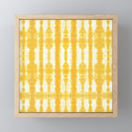 Yellow Tiki Shibori Framed Mini Art Print