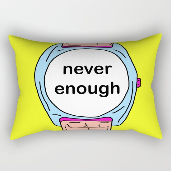 Never enough time Rectangular Pillow