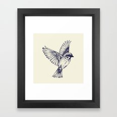 lost bird Framed Art Print