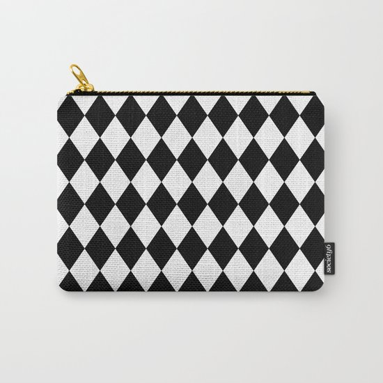Diamonds (Black/White) Carry-All Pouch