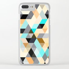 Flux Blue Clear iPhone Case