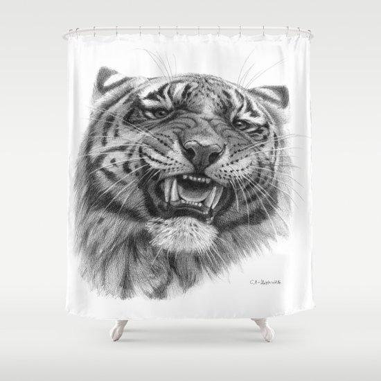 Tiger roar  G082 Shower Curtain