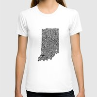indiana T-shirts featuring Typographic Indiana by CAPow!