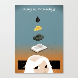 Saving up for Sunday Canvas Print