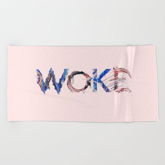 Woke Beach Towel