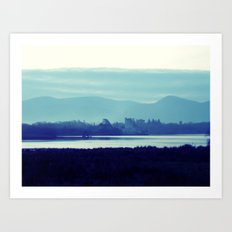 Ireland Blue Art Print