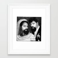 chad wys Framed Art Prints featuring chad and chad by Chad M. White