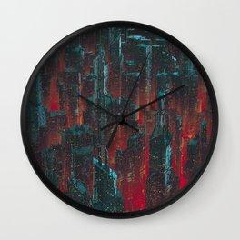 Cyberpunk Noir City Wall Clock