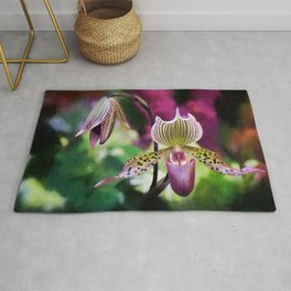 Colorful Orchid Rug