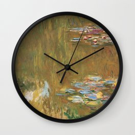 The Water Lily Pond by Claude Monet Wall Clock