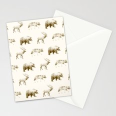Wild Pattern // Brown Stationery Cards