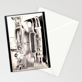 Mom and her Antique Car  Stationery Cards