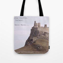 postcard from lindisfarne castle... Tote Bag