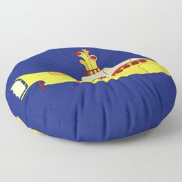 We all live in a yellow submarine Floor Pillow