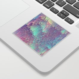 Iridescent Glitches Sticker